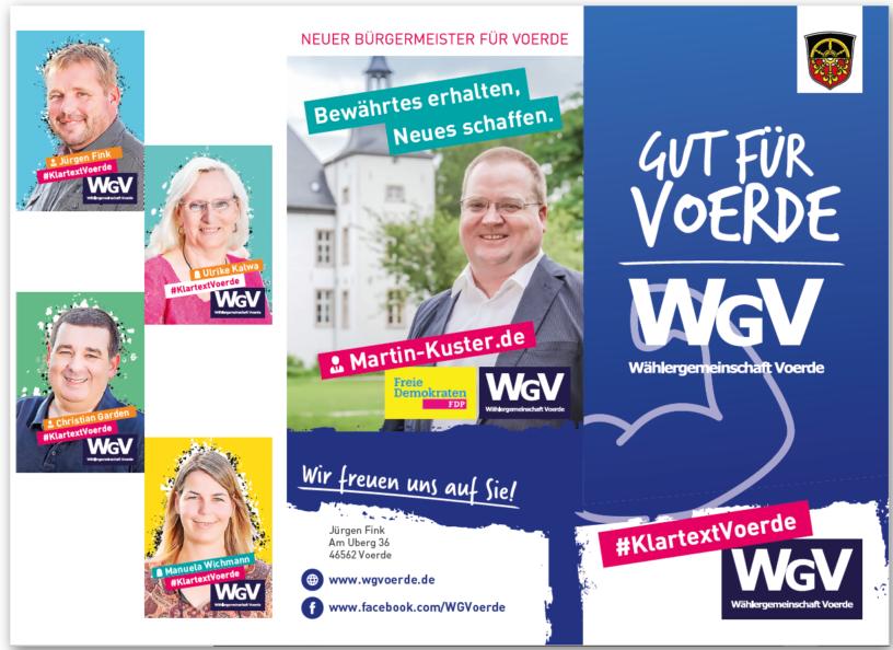 WGV Flyer Kommunalwahl 2020 außen